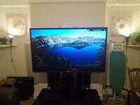"60"" Sharp Aquos 3D 1080p Smart TV w/stand"