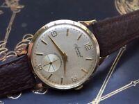 Vintage 9ct 9k 375 solid gold mens Accurist (Cheap, Quick Sale)