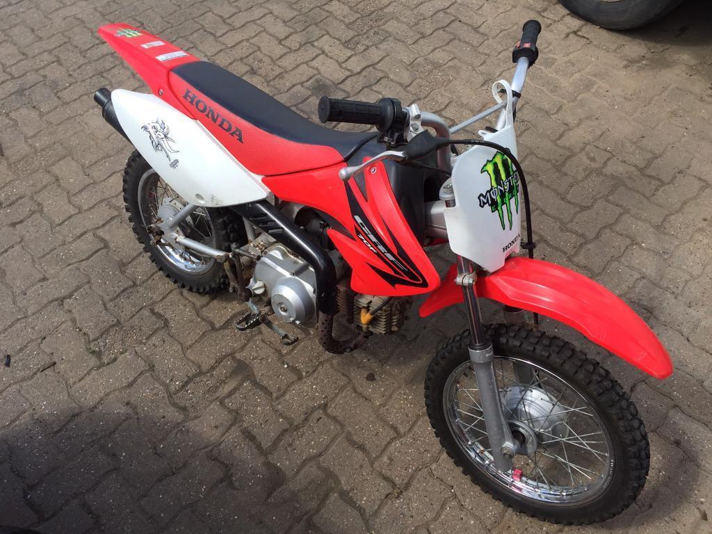 Honda crf 70 3 spd semi auto 4 stroke Mx 50 65 85 ktm kx Yz cr rm   in Cannock, Staffordshire ...