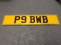 "private plate "" P9 BWB """