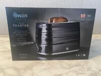 Swan Symphony Black 2 slice toaster
