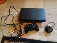 PS2 plus controller + games