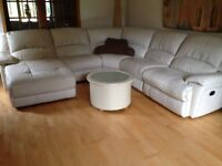 Large cream corner suite ready for uplift now