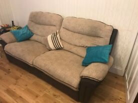 3 and 2 sofa electric and manual recliners