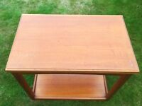 Hostess Trolley Table - Teak with folding top
