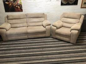 Stunning DFS BARRETT reclining sofa set