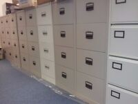 we have 4 draw filing cabinets in grey and coffe and cream