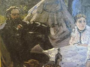 """Art Print Claude Monet """"The Picnic, A Fragment"""" Painted 1866 Stratford Kitchener Area image 4"""