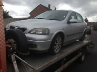 VAUXHALL ASTRA SPORT 1.6 TWINPORT SILVER 2004 Parts.