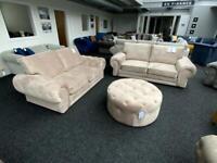 Chesterfield 3+2 Sofa Set plush velvet cream more colours available