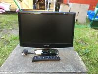 "SAMSUNG 19"" COLOUR TV WITH MONITOR"