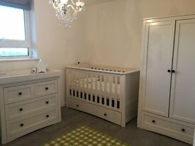 Mothercare Harrogate Almond White 3 piece Furniture set
