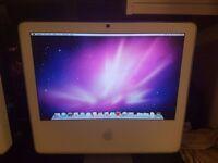 """Apple iMac G5 17"""" Screen 1.8Ghz 2gb RAM 250gb HDD OSX Leopard 10.6.8."""