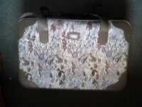 Suitcases - tapestry, matching pair