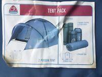 Tentpack - Eurohike - 2 person tent, 2 foam mats, 2 mummy sleeping bags. Unused