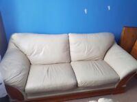 Sofa cream leather