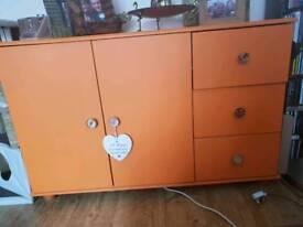 Orange sideboard/ unit