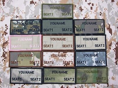 Custom name Tapes Text brand Morale tactics Military Embroidery Patch
