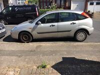 Ford Focus, silver, 5 doors and a sunroof