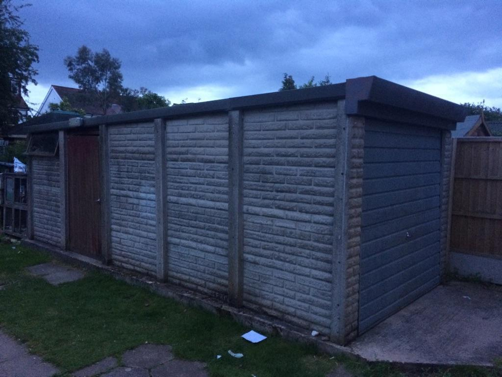Leofric 21 foot concrete sectional garage lockable in for Coventry garage doors