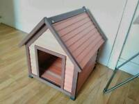 PLASTIC-WOODEN DOG HOUSE