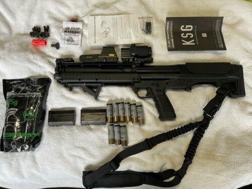 Tokyo Marui Kel-Tec Licensed KSG Airsoft GBB AR Shotgun EOTech sight/scope MBUS