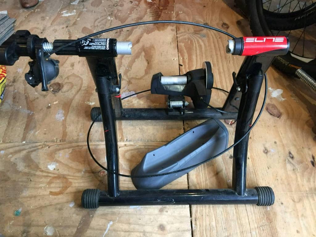 Static bike trainer