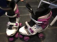Adjustable roller boots