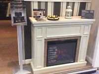 Wall/Corner Electric Fire Suite with Infrared Heating, Half Price - New, Free Delivery