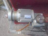 Here I have a stair lift electric motor good working order