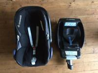Maxi-Cosi CabrioFix Baby Car Seat (Black) + optional EasyFix ISOFIX base (CAN DELIVER or POST)