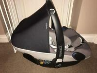 Maxi cosi pebble plus car seat with rain covers