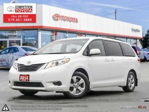 2014 Toyota Sienna LE 8 Passenger Toyota Certified, One Owner...
