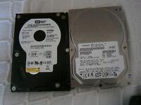 PATA and SATA hard drives