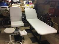 Beauticians chair and bed