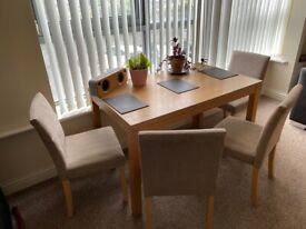 Lovely Table and Four Chairs