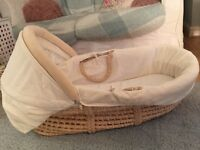 Mothercare Moses Basket and Rocking Stand