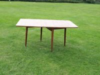 Folding Oak Dining Table