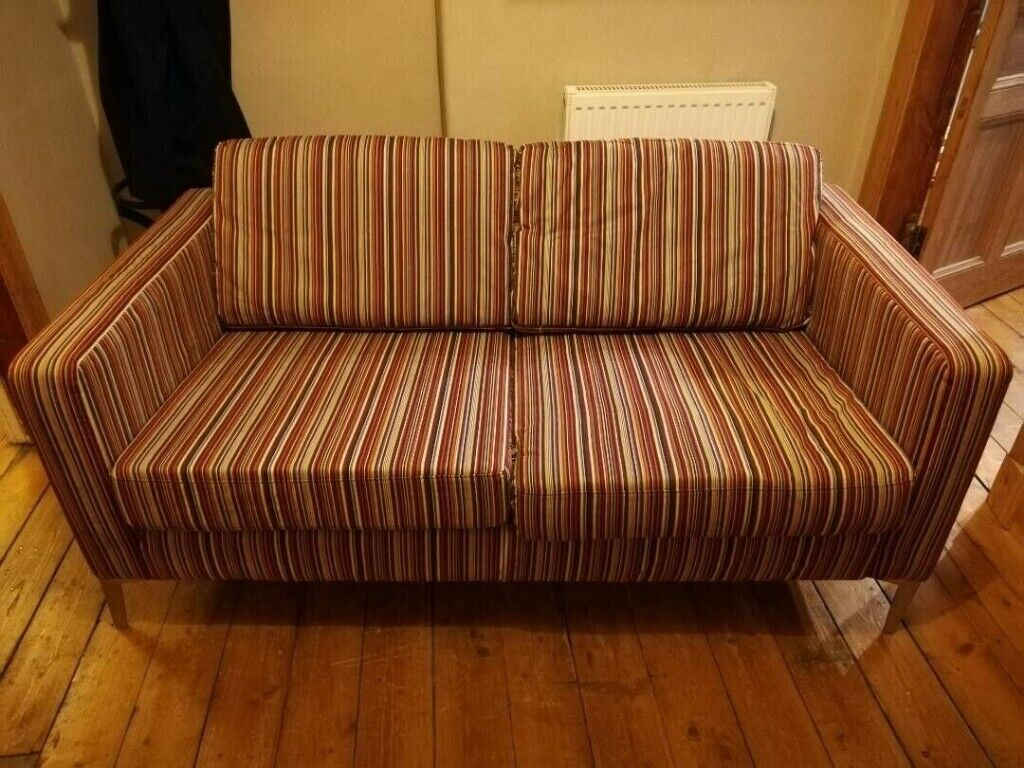 Phenomenal 2 Seater Sofa Robust Ikea Karlstad Striped Fabric Couch Metal Legs Hardly Used Washable Covers In Cumbernauld Glasgow Gumtree Download Free Architecture Designs Terchretrmadebymaigaardcom