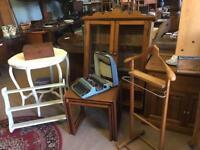 Vintage furniture shop open