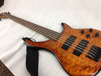 "Peavey Cirrus 5 five-string bass guitar (through neck) 35"" Superb!"
