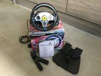 RETRO GAMING - Thrustmaster Challenge Racing Wheel for Sony PS1 or PS2 Playstation.