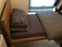 Single bed nearly brand new with mattress.