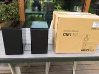 Bower and wilkins cm1 s2 speakers ( pair ) Glossy black B&W stunning sound and details