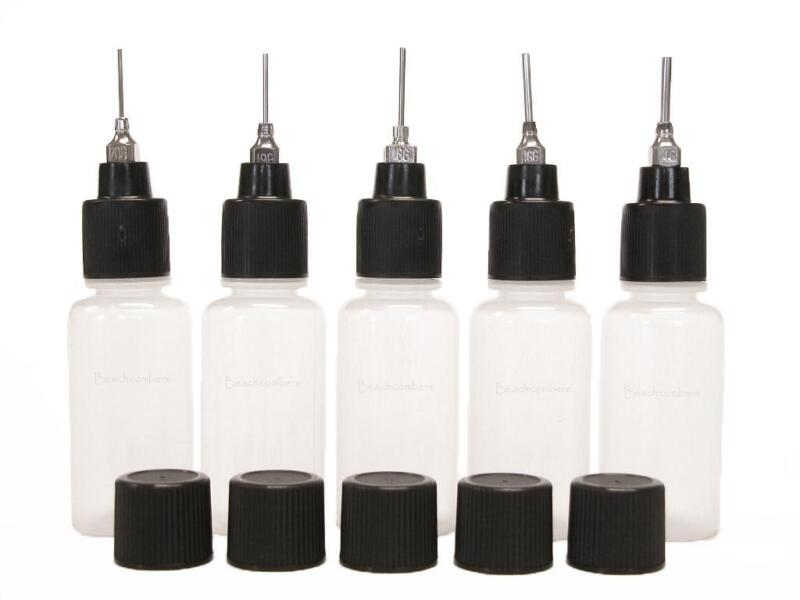 5 Soft Squeeze Applicator Bottles Metal Tips Henna Mehndi Jagua Ink Paint Paste