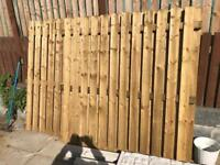 6ft double sided fence panels x3