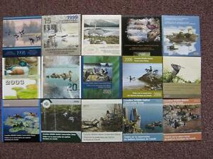 Canadian Duck stamp booklets 1985-2012