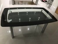 Glass 6 seater dinning table