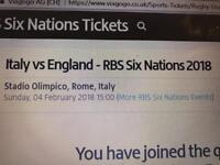 Six nations tickets italy v England 2018