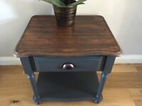 Side table bedside table drawer coffee table solid pine